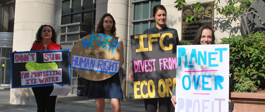 Rally at the IFC: Divest from Eco Oro in Colombia